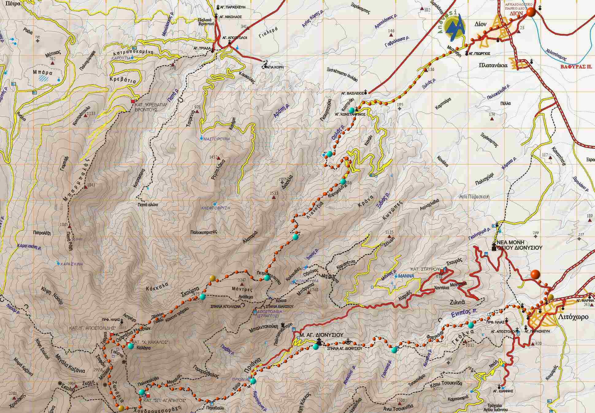 Map | Olympus Marathon Marathon Greece Map on